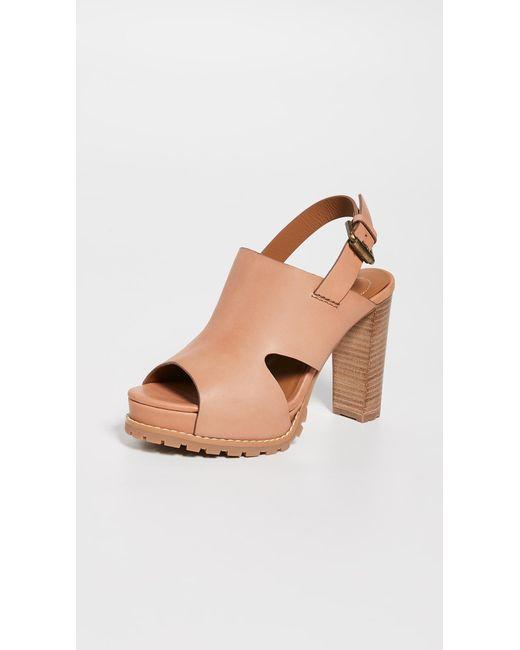 df2e1d954dd5e1 See By Chloé - Brown Brooke Platform Sandals - Lyst ...