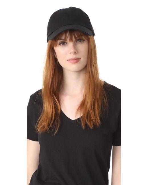 Hat Attack - Black Canvas Dad Cap - Lyst