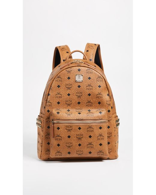 MCM - Brown Small Side Stark Backpack - Lyst