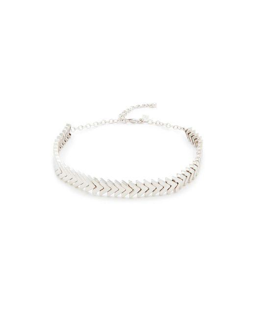 Rebecca Minkoff | Metallic Chevron Stretch Choker Necklace | Lyst