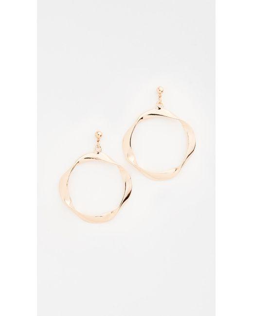 Shashi | Metallic Riley Hoop Earrings | Lyst
