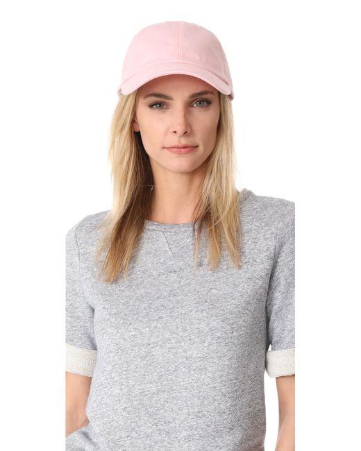 Hat Attack - Pink Canvas Dad Cap - Lyst