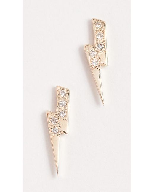 stud lightning white earrings jewels jest bolt diamond gold and