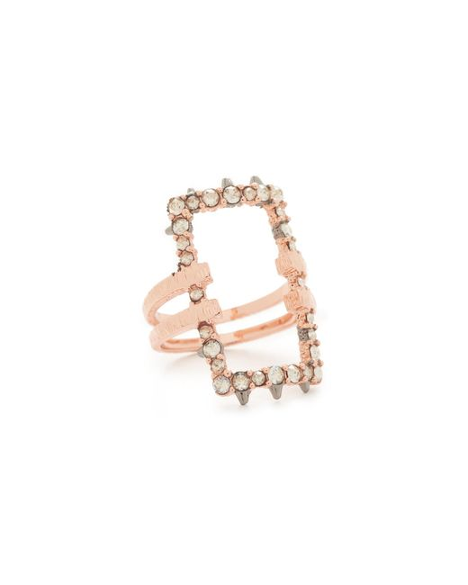 Alexis Bittar | Multicolor Crystal Encrusted Link Ring | Lyst