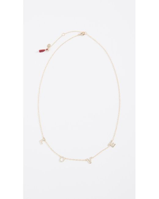 Shashi - Metallic Love Necklace - Lyst
