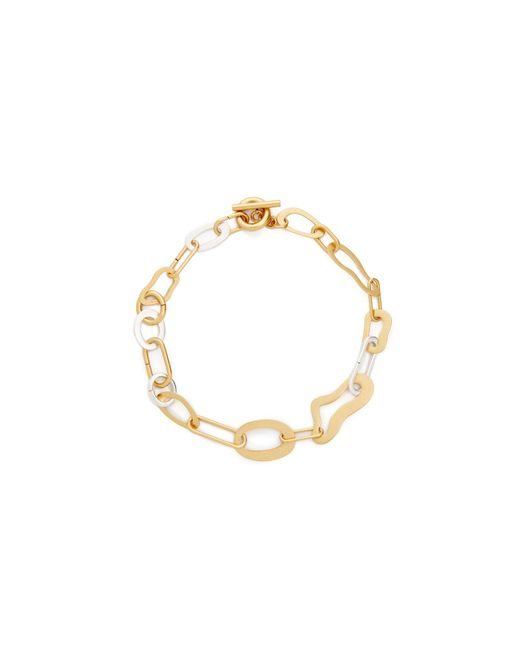 Madewell | Metallic Abstract Link Necklace | Lyst
