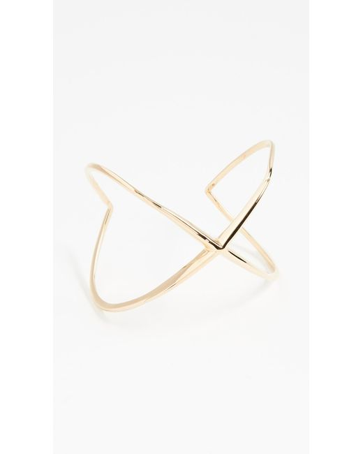 Elizabeth and James | Metallic Windrose Cuff Bracelet | Lyst