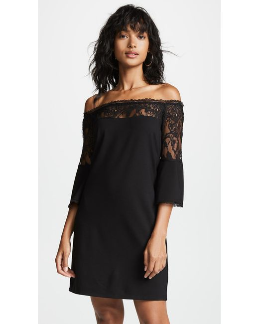 BB Dakota - Black Desperado Off Shoulder Dress - Lyst