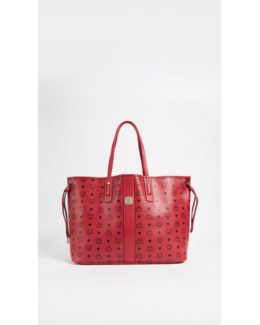 MCM - Red Large Liz Shopper Tote - Lyst