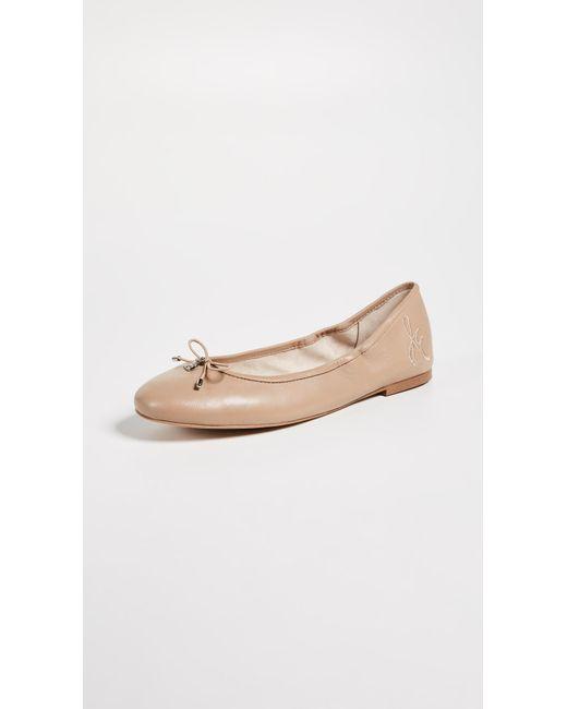 fd28c6b6e32405 Sam Edelman - Natural Felicia Ballet Flats - Lyst ...