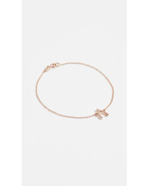 Jennifer Meyer - Pink Diamond Wishbone Bracelet - Lyst