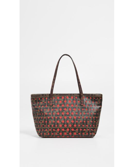 a2f7bc78a09b What Goes Around Comes Around Fendi Red Zucca Tote Bag in Red - Lyst
