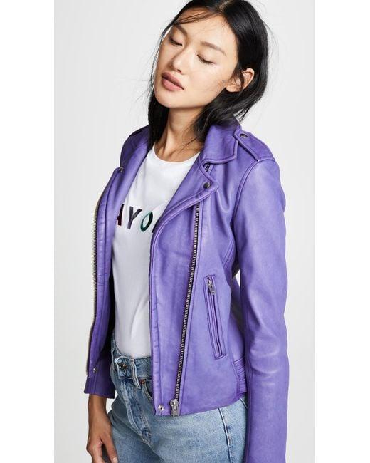 IRO - Purple Han Leather Jacket - Lyst