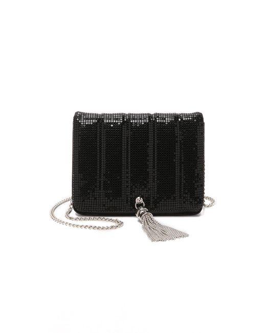 Whiting & Davis | Black Quilted Tassel Bag | Lyst