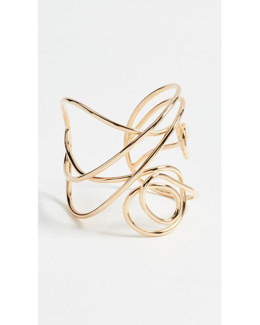 Joanna Laura Constantine | Metallic Multi Knot Statement Cuff Bracelet | Lyst