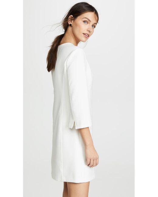 d6d86247bdd Lyst - Alice + Olivia Gem 3 4 Sleeve Shift Dress in White - Save 1%