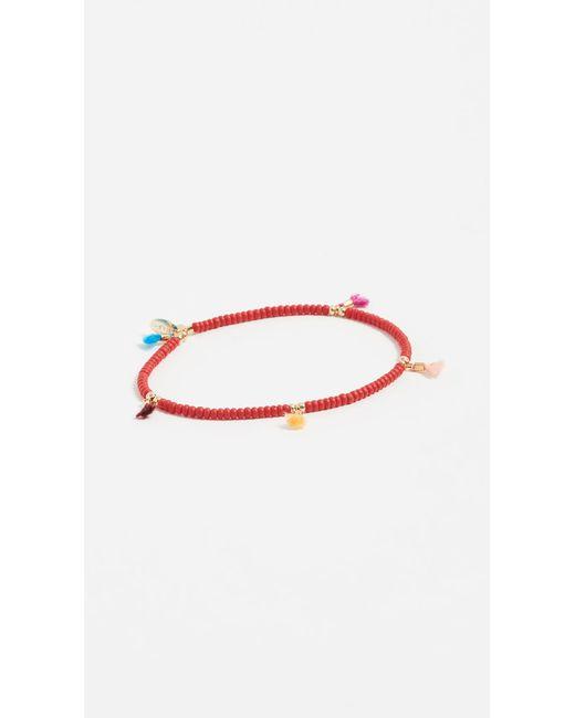 Shashi - Red Lilu Seed Bracelet - Lyst
