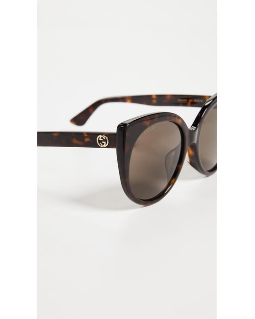 72eacc6ad80 ... Gucci - Brown Cat-eye Sunglasses - Lyst ...