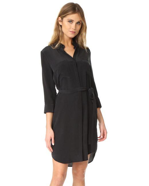 L'Agence - Black Stella Short Shirtdress - Lyst