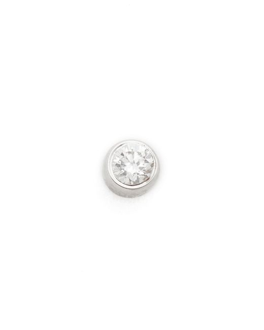 EF Collection - Multicolor Diamond Bezel Single Stud Earring - Lyst