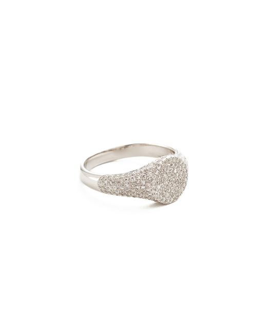 EF Collection - Multicolor Diamond Signet Pinky Ring - Lyst