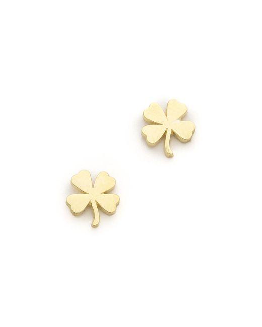 Jennifer Meyer | Metallic Mini Clover Stud Earrings | Lyst
