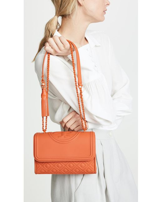 new design newest selection On Clearance Women's Orange Fleming Matte Small Convertible Shoulder Bag