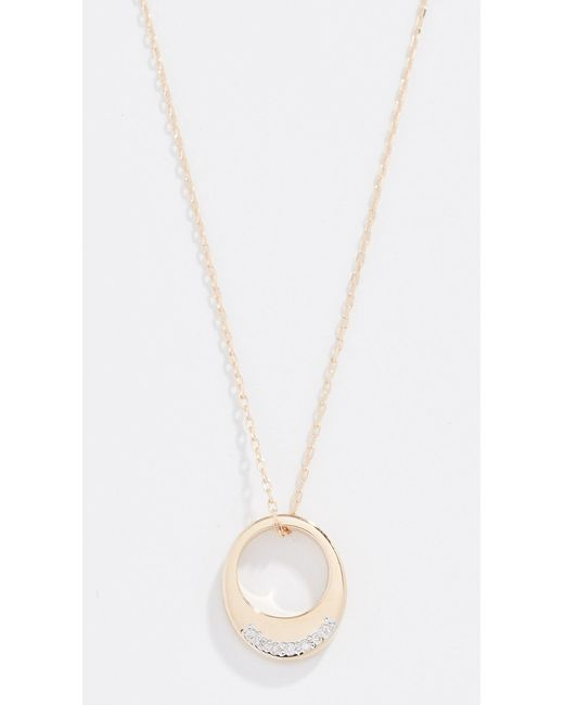 Adina Reyter - Metallic Tiny Pave Petal Necklace - Lyst