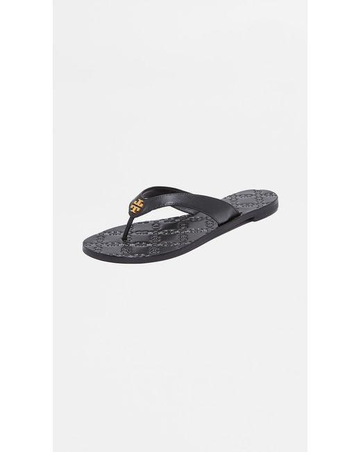 Tory Burch - Black Monroe Thong Sandals - Lyst