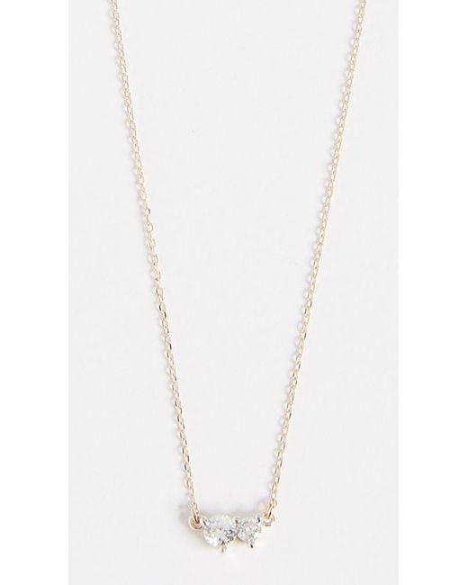Adina Reyter - Metallic 14k Gold Two Diamond Amigos Necklace - Lyst