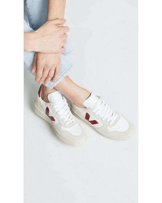 fc920c9e166e7d ... Veja - White V-10 Lace Up Sneakers - Lyst ...