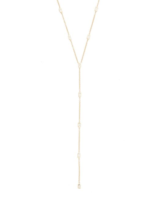 EF Collection | Metallic 14k Gold Diamond Lariat Necklace | Lyst
