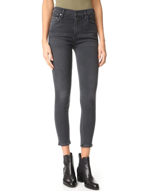 Citizens of Humanity | Blue High Rise Rocket Crop Skinny Jeans | Lyst