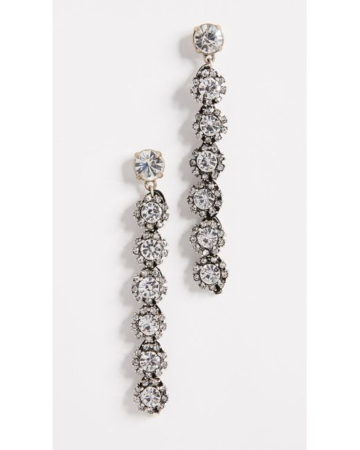 Lulu Frost - Multicolor Royale Crystal Line Earrings - Lyst