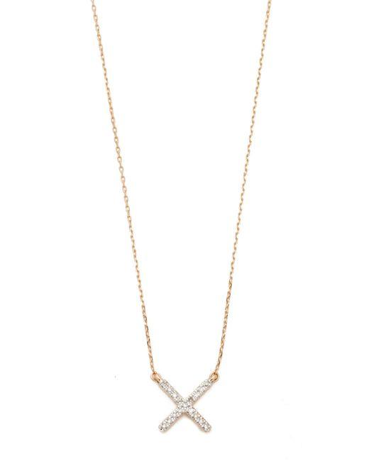 Adina Reyter | Metallic Pave X Necklace | Lyst