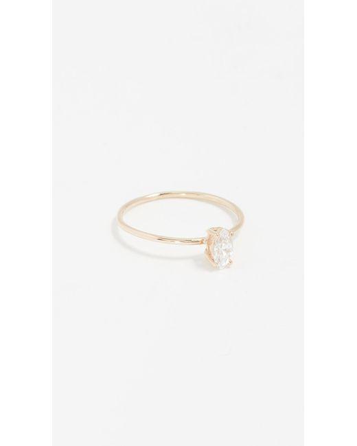 Natalie Marie Jewellery - Metallic Tiny Marquis Ring - Lyst