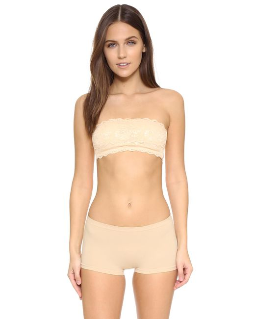 Cosabella | Pink Never Say Never Padded Flirtie Bandeau Bra | Lyst