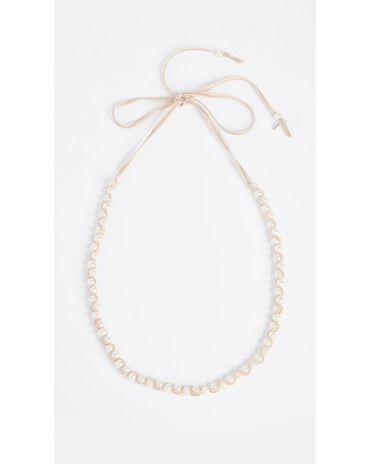 Chan Luu | White Freshwater Cultured Pearl Necklace | Lyst