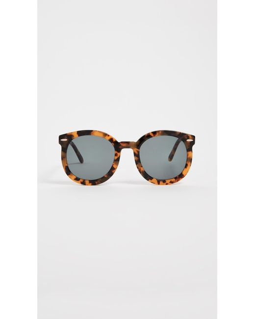 6d48accd9ef Karen Walker - Brown Super Duper Strength Sunglasses - Lyst ...