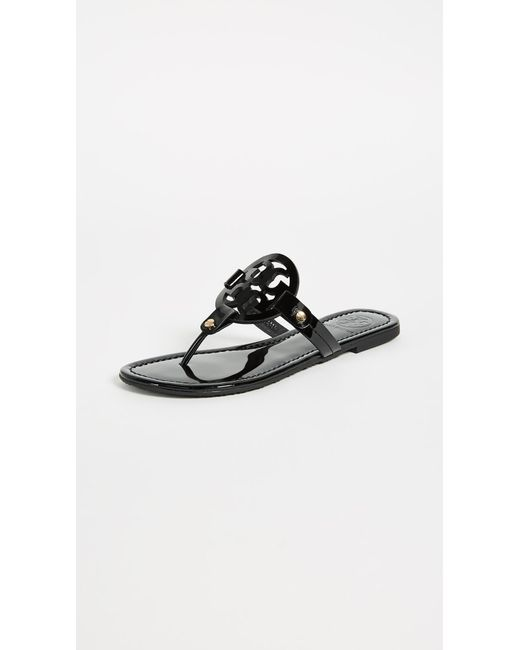 5b5cac1aa550cf Lyst - Tory Burch Miller Thong Sandals in Black - Save 2%