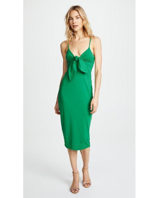403db04bea05 Susana Monaco - Green Isadora Bow Detail Midi Dress - Lyst ...