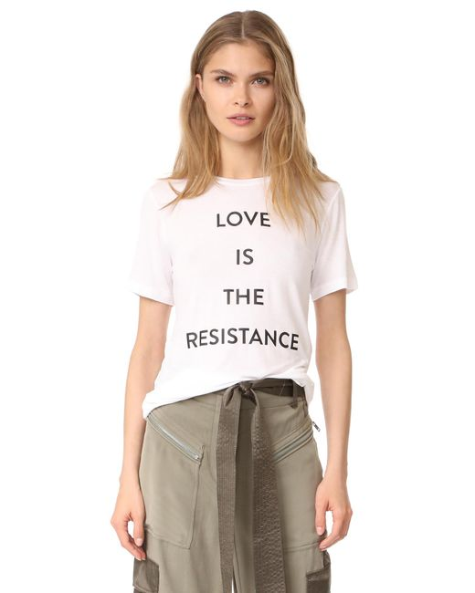 Prabal Gurung | White Love Is The Resistance Tee | Lyst
