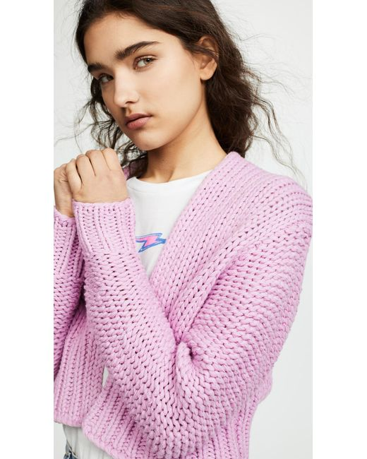 e4482f699c ... Free People - Pink Glow For It Cardi - Lyst ...