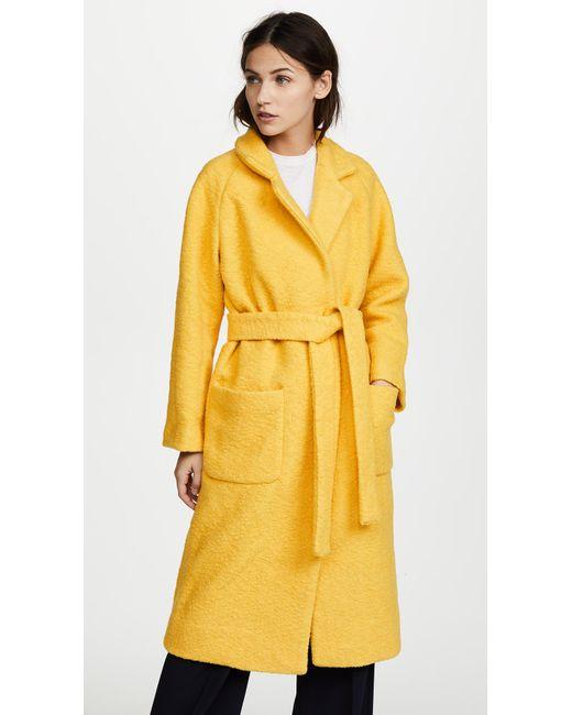 Ganni   Yellow Fenn Coat   Lyst