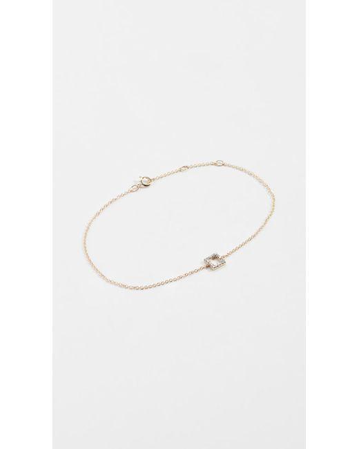 Mateo - Metallic 14k Mini Diamond Square Bracelet - Lyst