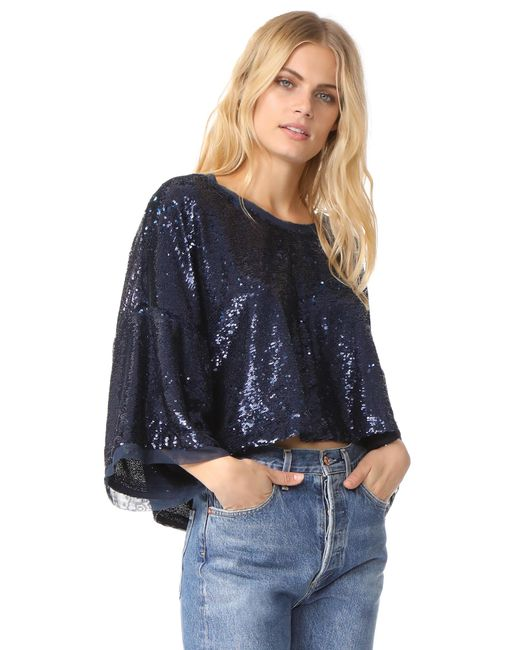 Free People | Blue Champagne Dreams Tee | Lyst
