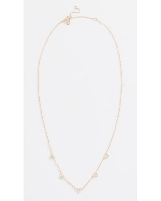 EF Collection - Metallic 14k Mini Diamond Heart Necklace - Lyst