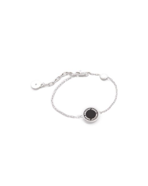 Marc Jacobs | Metallic Enamel Logo Disc Bracelet | Lyst