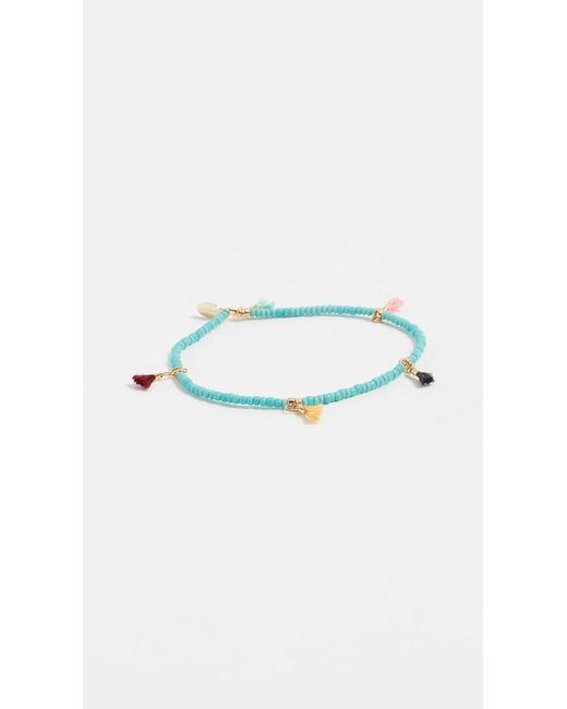 Shashi - Blue Lilu Seed Bracelet - Lyst