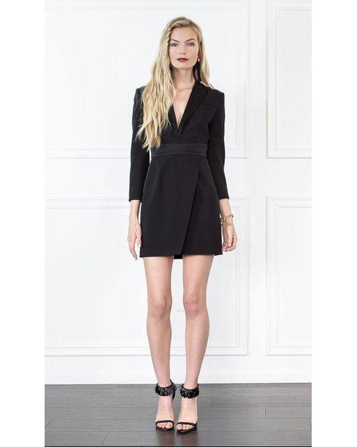 Rachel Zoe | Black Evans Tux Mini Dress | Lyst